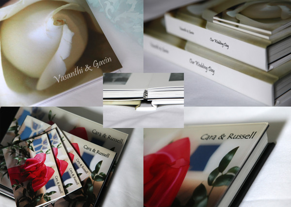 Digital albums with phot and acrylic covers, plus parent books.